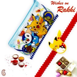 Pikachu Pouch Box and Rakhi Kids Hamper
