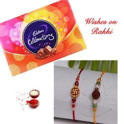 Cadbury Celebrations Box with Set of 2 Rakhis