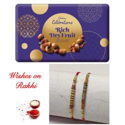 Cadbury Celebrations Rich Dry Fruit Box with Set of 2 Rakhis