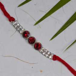 AD and Stones Studded Rakhi