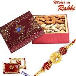Almonds and Pista Box with FREE Rakhi and Tilak