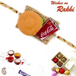 Amazing Miniature Burger and Coca-Cola Kids Rakhi