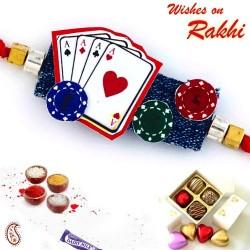 Amazing Playing Cards Motif Kids Rakhi