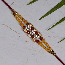 American Diamonds and Coloring Beads Rakhi