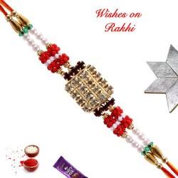 American Diamonds Stones and Beads Exclusive Rakhi