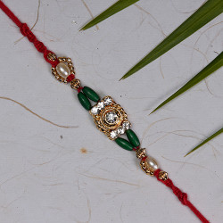 American Diamonds with Coloring Beads Rakhi