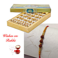 Anjeer Rolls with Divine Rudraksh Rakhi