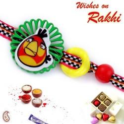 Artistically Cutwork Design Angry Bird Rakhi