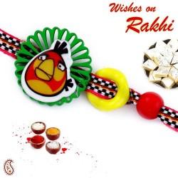 Artisticaly Cutwork Design Angry Bird Rakhi