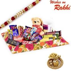 Assorted Chocolates Hamper with Rakhi