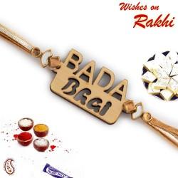 Bada Bhai Motif Wooden Rakhi