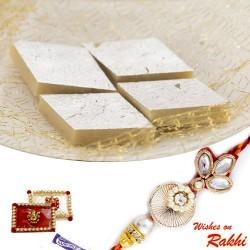 Badam Katli Sweet with FREE 1 Bhaiya Rakhi