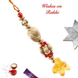 Beads and Crystals Studded Lumba Rakhi