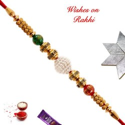 Beautiful AD and Colored Beads Rakhi