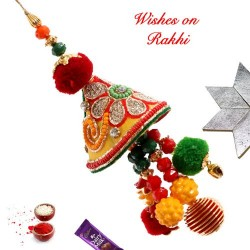 Beautiful Hand Crafted Lumba Rakhi