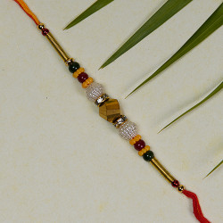 Beautiful Multicolor Beads Rakhi