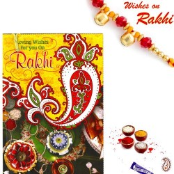 Beautiful Rakhi Card with Lovely message and Rakhi