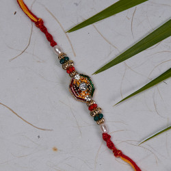 Beautiful Rakhi with AD and Multicolor Beads