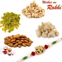 Bhaiya Rakhi and Dryfruits Hamper