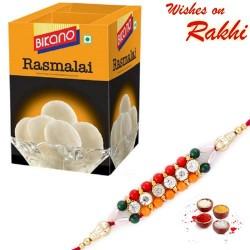 Bikano Rasmalai Pack with Bhaiya Rakhi