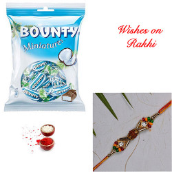Bounty Miniatures Pack with Handcrafted Premium Rakhi