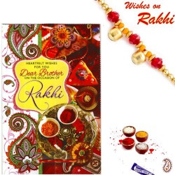 Brotherhood Rakhi Card with Message and Rakhi