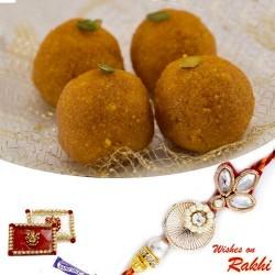 Bundi Laddu Sweet with FREE 1 Bhaiya Rakhi