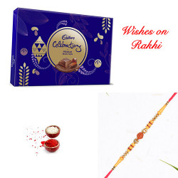 Cadbury Celebrations Premium Selection with Rudraksh Rakhi