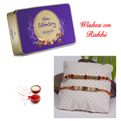 Cadbury Celebrations Rich Dry Fruit Box with Set of 2 Rakhis