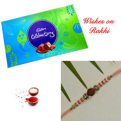 Cadbury Celebrations with Premium Rudraksh and AD Rakhi