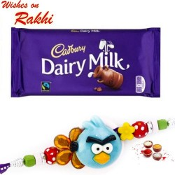 Cadbury Dairy Milk Bar with Angry Birds Kids Rakhi