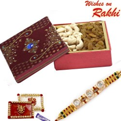 Cashew and Raisins Box with FREE Rakhi and Tilak