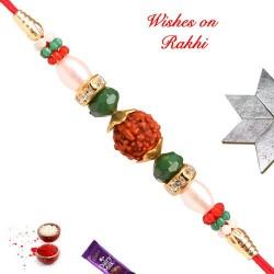 Charming Rudraksh AD and Beads Rakhi