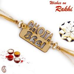 Chota Bhai Motif Wooden Rakhi