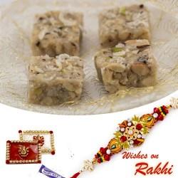 Coconut Dryfruit Chikki Sweet with FREE 1 Bhaiya Rakhi