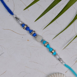 Colored Beads and Pearls Hand Crafted Rakhi