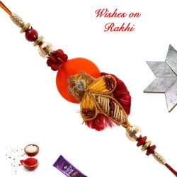 Colorful Beads and American Diamonds Rakhi