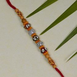 Coloring Beads and AD Studded Rakhi