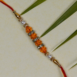 Coloring Beads and Pearls Rakhi