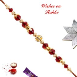 Crystals Beads and American Diamonds Rakhi