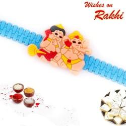 Cute Hanuman and Ganesh Kids Rakhi