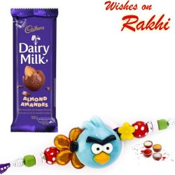 Dairy Milk Almonds Chocolate with Kids Rakhi