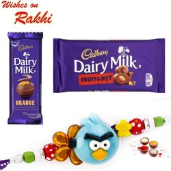 Dairy Milk Fruit n Nut and Orange Chocolate with Kids Rakhi