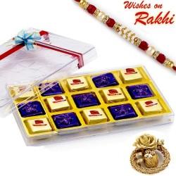 Decorative Chocolates and Mawa Bite Sweets with Rakhi
