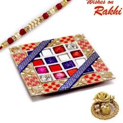Decorative Chocolates Hamper with Rakhi