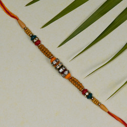 Delicate AD and Beads Studded Rakhi
