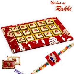 Delicious Choco Orange and Rose Bite Slice Pack with FREE 1 Rakhi