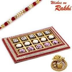 Designer Chocolate Box with Rakhi Hamper