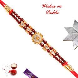 Elegant AD and Colored Beads Rakhi