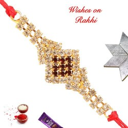 Exclusive Heavy AD Studded Rakhi